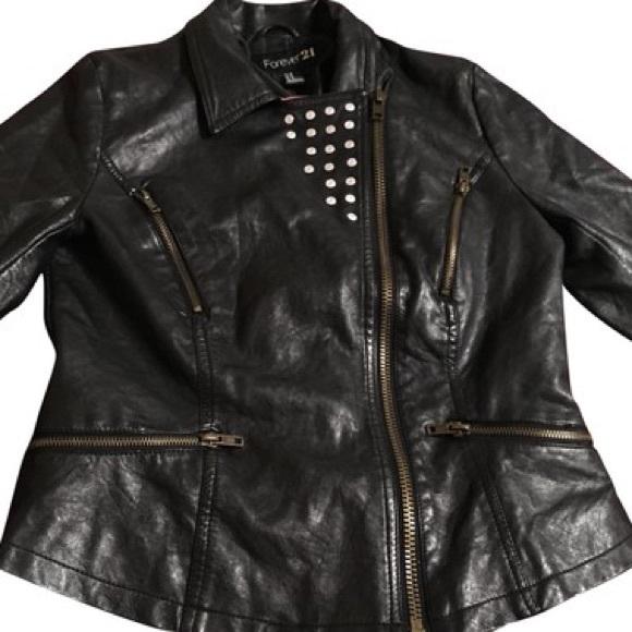 Forever 21 Jackets & Blazers - Black leather jacket